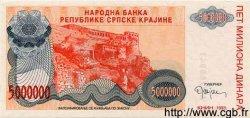 5000000 Dinara CROATIE  1993 P.R24 NEUF