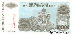100000000 Dinara CROATIE  1993 P.R25 NEUF