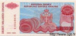 10 Milliard Dinara CROATIE  1993 P.R28 NEUF
