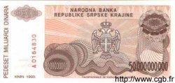 50000000000 Dinara CROATIE  1993 P.R29a NEUF