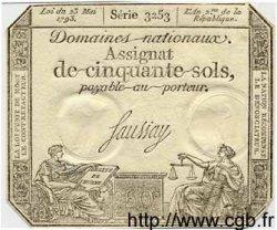 50 Sols FRANCE  1793 Laf.167 SPL