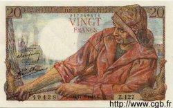 20 Francs PÊCHEUR FRANCE  1944 F.13.09 SPL