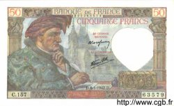 50 Francs JACQUES CŒUR FRANCE  1942 F.19.18 SPL