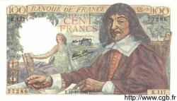 100 Francs DESCARTES FRANCE  1944 F.27.08 pr.NEUF