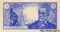 5 Francs PASTEUR FRANCE régionalisme et divers  1966  pr.NEUF