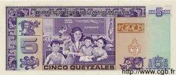 5 Quetzales GUATEMALA  1991 P.074 NEUF