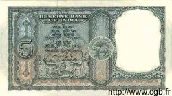 5 Rupees INDE  1957 P.035a SPL
