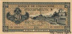 20 Piastres marron INDOCHINE FRANÇAISE  1945 P.071 pr.NEUF
