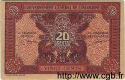 20 Cents INDOCHINE FRANÇAISE  1943 P.090 SPL