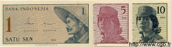 1 Sen, 5 Sen et 10 Sen INDONÉSIE  1964 P.090, 091 et 092 NEUF