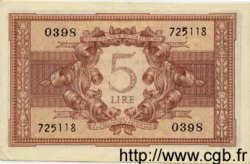 5 Lire ITALIE  1944 P.031b SPL