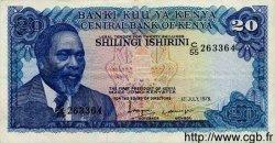 20 Shillings KENYA  1978 P.17 SUP