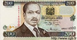 200 Shillings KENYA  2001 P.35 NEUF