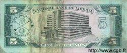5 dollars LIBERIA  1989 P.19 TTB