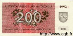 200 Talonas LITUANIE  1992 P.43a NEUF
