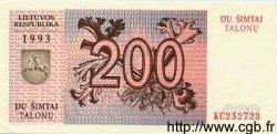 200 Talonas LITUANIE  1993 P.45 NEUF