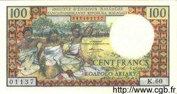 100 Francs - 20 Ariary MADAGASCAR  1966 P.57a NEUF