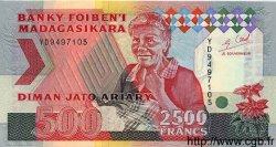 2500 Francs / 500 Ariary MADAGASCAR  1993 P.72A NEUF
