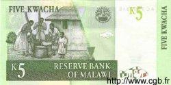 5 Kwacha MALAWI  1997 P.36 pr.NEUF