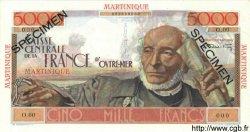 5000 Francs Schoelcher MARTINIQUE  1952 P.34s pr.NEUF