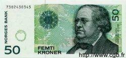 50 Kroner NORVÈGE  1999 P.46 var. NEUF