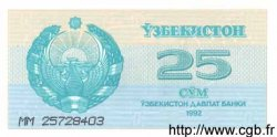 25 Sum OUZBEKISTAN  1992 P.65a pr.NEUF