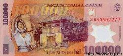 100000 Lei ROUMANIE  2001 P.114 NEUF