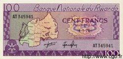 100 Francs RWANDA  1976 P.08d NEUF