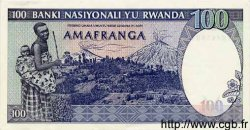100 Francs RWANDA  1982 P.18 SPL