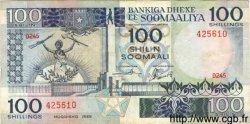 100 Shilin SOMALIE RÉPUBLIQUE DÉMOCRATIQUE  1989 P.35d TTB