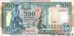500 Shilin SOMALIE RÉPUBLIQUE DÉMOCRATIQUE  1989 P.36 NEUF