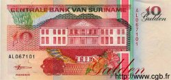 10 Gulden SURINAM  1998 P.137b NEUF
