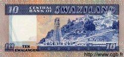 10 Emalangeni SWAZILAND  1985 P.10c NEUF