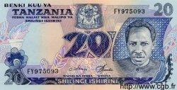 20 Shilingi TANZANIE  1978 P.07c NEUF