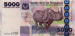 5000 Shilingi TANZANIE  2002 P.38 NEUF