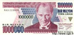 1000000 Lirasi TURQUIE  1996 P.209 NEUF