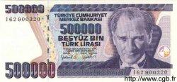 500000 Lirasi TURQUIE  1998 P.212 NEUF