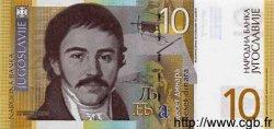 10 Dinara YOUGOSLAVIE  2000 P.153b NEUF