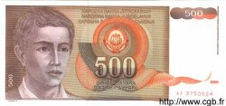 500 Dinara YUGOSLAVIA  1991 P.109 UNC