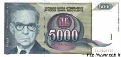5000 Dinara YOUGOSLAVIE  1992 P.115 NEUF