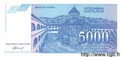 5000 Dinara YOUGOSLAVIE  1994 P.141a NEUF