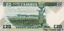 20 Kwacha ZAMBIE  1980 P.27e NEUF