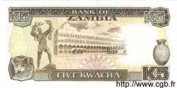 5 Kwacha ZAMBIE  1989 P.30a NEUF