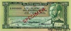 1 Dollar ÉTHIOPIE  1966 P.25s NEUF