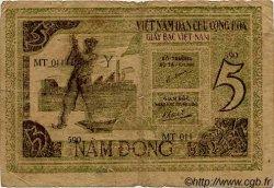 5 Dong VIET NAM  1946 P.003b B à TB