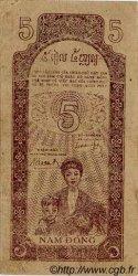 5 Dong VIET NAM  1947 P.010c SUP