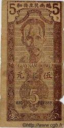 5 Dong VIET NAM  1947 P.010d B+