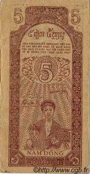 5 Dong VIET NAM  1947 P.010e TTB