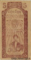 5 Dong VIET NAM  1947 P.010e TTB+