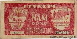5 Dong VIET NAM  1948 P.017a TB+